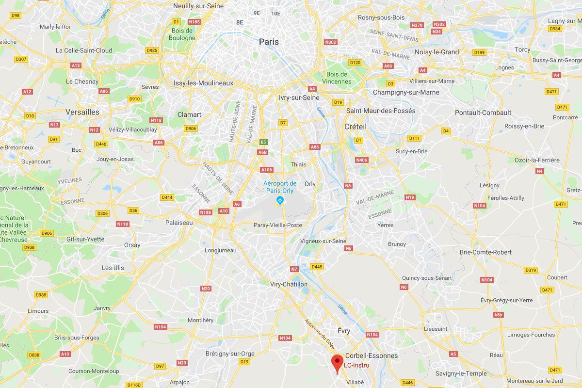 Localiser LC Instru sur une carte : sud de Paris, à 30km environ